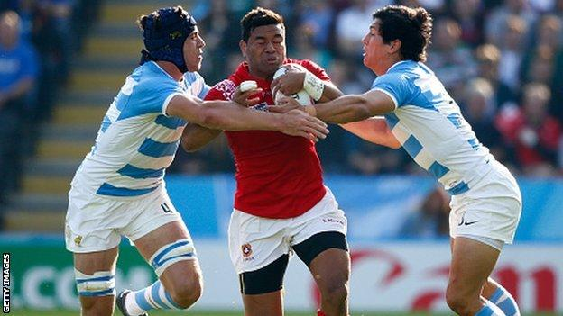 Siale Piutau played all four group games for Tonga in the 2015 Rugby World Cup