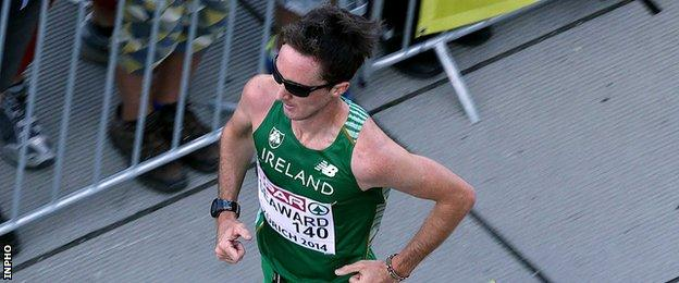 Kevin Seaward looks likely to represent Ireland in the Olympic Marathon in Rio