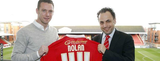 Kevin Nolan and Alessandro Angelieri