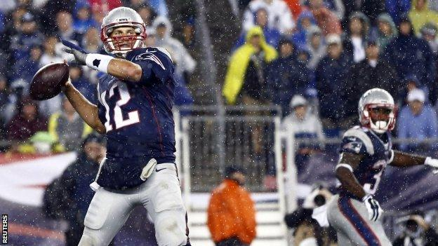 Tom Brady threw four touch down passes in his comeback game against the Pittsburgh Steelers