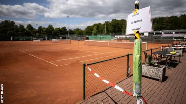 A tennis court in Germany