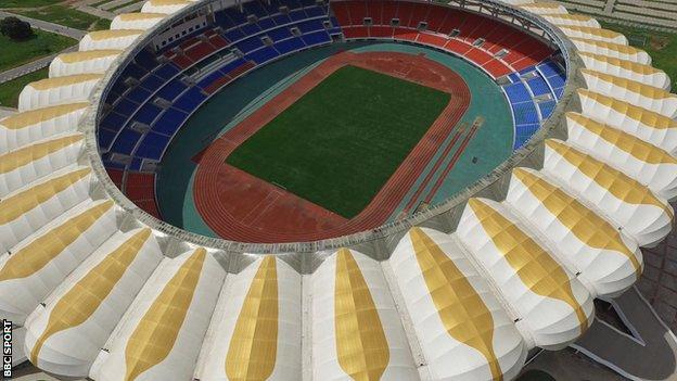 The Heroes National Stadium in Lusaka