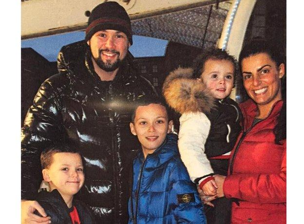 Tony Bellew and his family