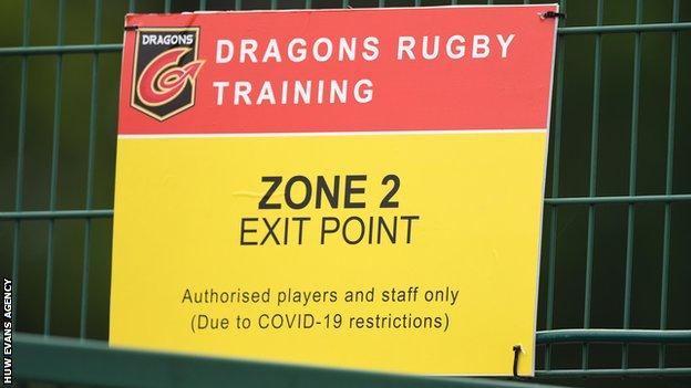 Covid-19 precautions are in place in Welsh regional rugby