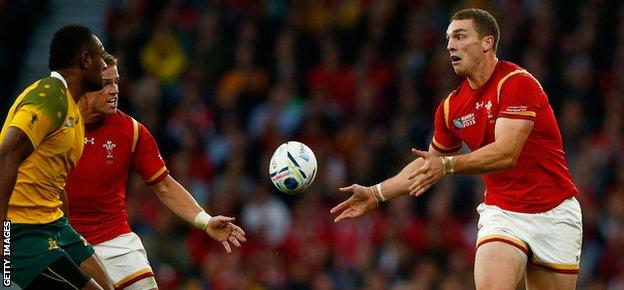 George North started at centre against Australia but is expected to return to the wing against South Africa