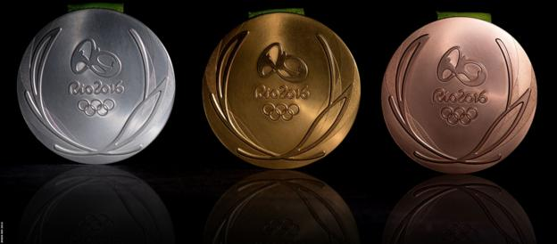 Rio Olympic medals