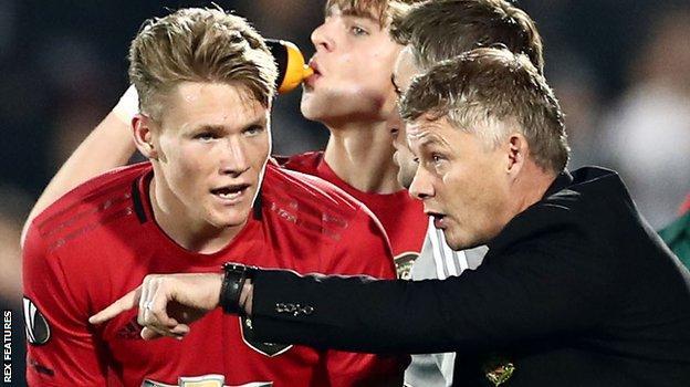 Scott McTominay and Manchester United boss Ole Gunnar Solskjaer