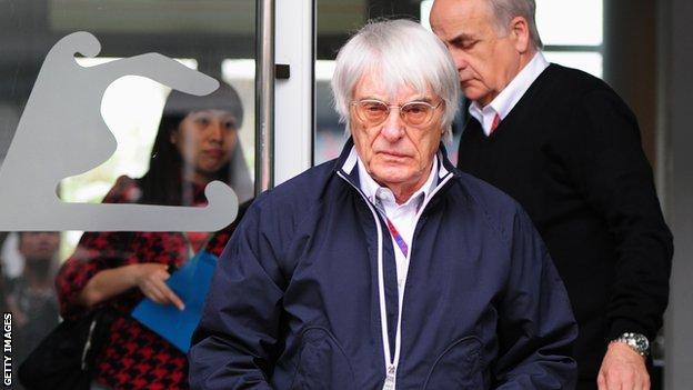 Formula 1 boss Bernie Ecclestone