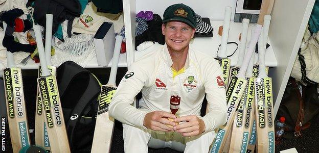 Steve Smith in the Australian dressing room