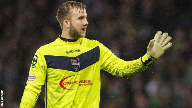 Ross County goalkeeper Scott Fox