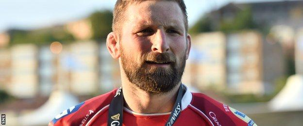 Scarlets' John Barclay was man of the match against Glasgow Warriors on Saturday