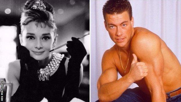 Audrey Hepburn and Jean Claude van Damme