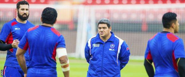 Samoa head coach Stephen Betham and his players will want to end their World Cup campaign with a win