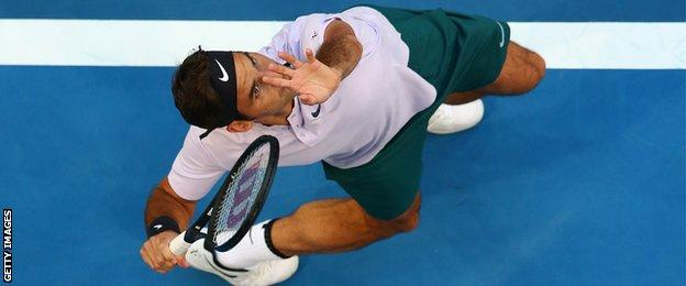Federer has won a career total of 20 Grand Slams