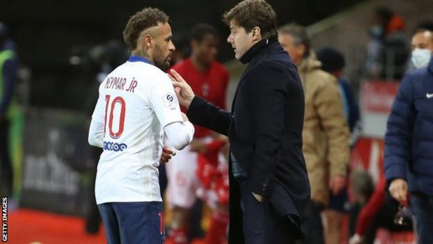 Neymar and Mauricio Pochettino