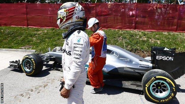 Lewis Hamilton out of Spanish grand prix