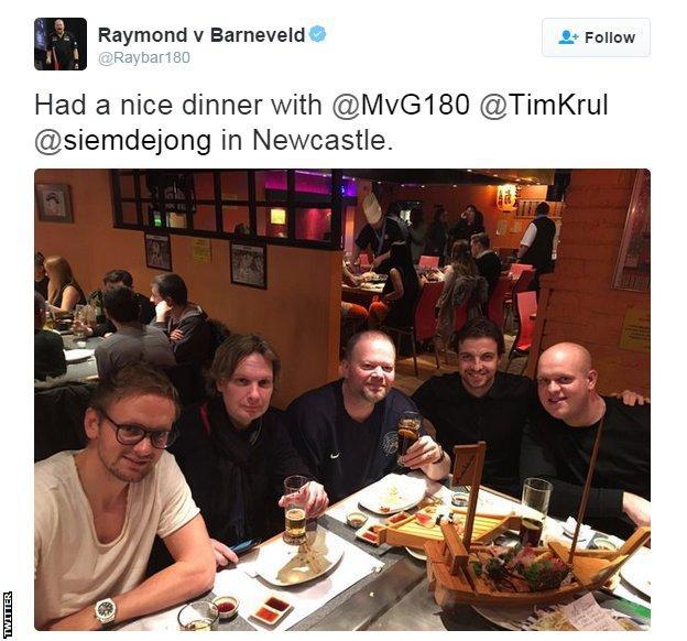 Raymond van Barneveld on Twitter