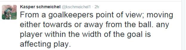 Kasper Schmeichel tweet