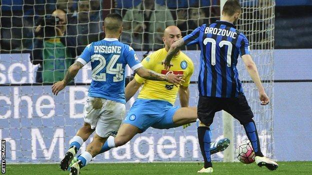 Marcelo Brozovic scores for Inter Milan