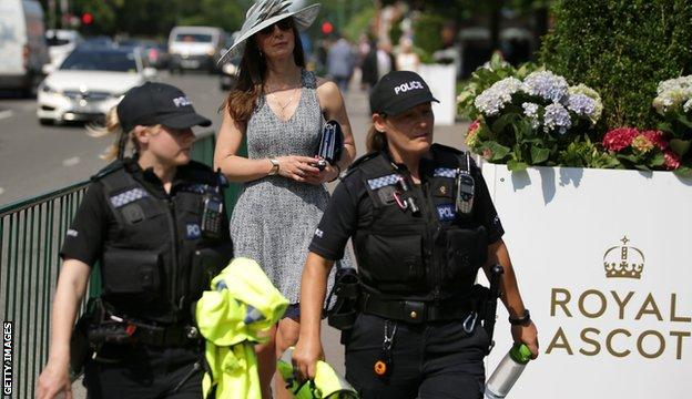 Police at Royal ascot