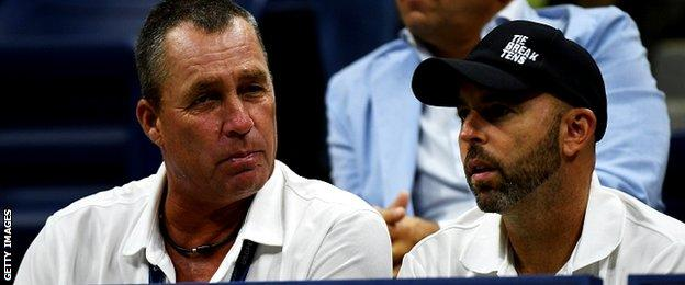 Murray's coaching team of Ivan Lendl and Jamie Delgado