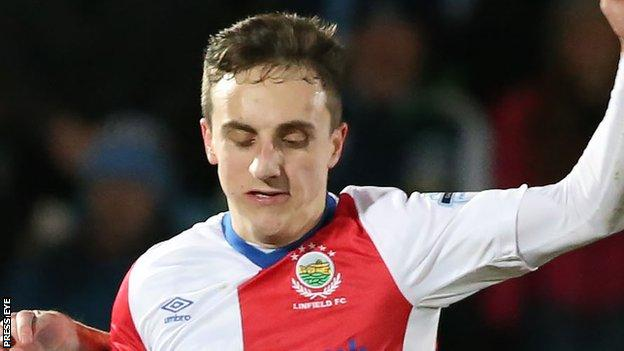 Joel Cooper was in inspiring form as Linfield thumped Ballymena United