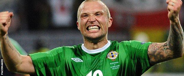 Feeney scored five goals in 46 appearances for Northern Ireland