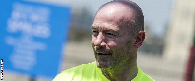 Former Newcastle player and interim boss Alan Shearer, now a pundit on MOTD