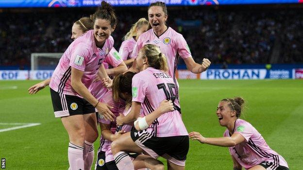 Scotland women are vying to qualify for the Euro Championship, which will now take place in 2022