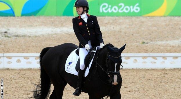 Sophie Christiansen competes in the most disabled category for para dressage - Grade 1a
