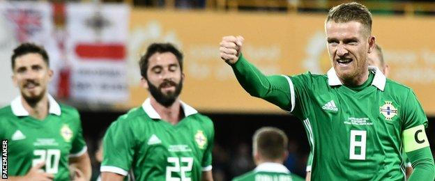 Steven Davis gave Northern Ireland the lead in the 13th minute against Israel