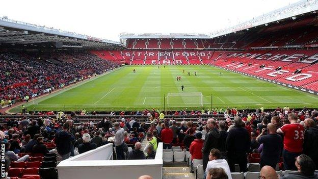 Two of the Old Trafford stands were evacuated