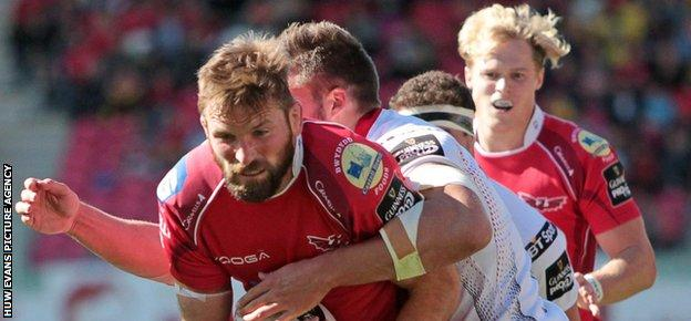 John Barclay was one of three Scarlets players sent to the sin-bin