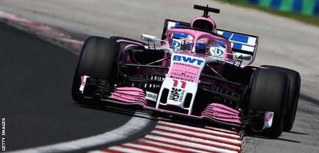 Force India's Sergio Perez