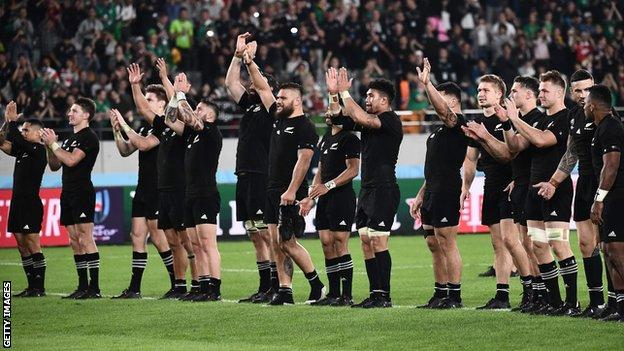 Rugby World Cup New Zealand S Statement Of Intent Before England Semi Final Bbc Sport