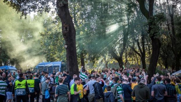 Celtic fans in Rome
