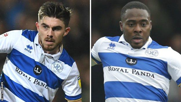 Ryan Manning and Bright Osayi-Samuel in action for QPR