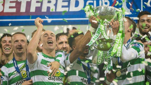 Celtic lift the Scottish League Cup