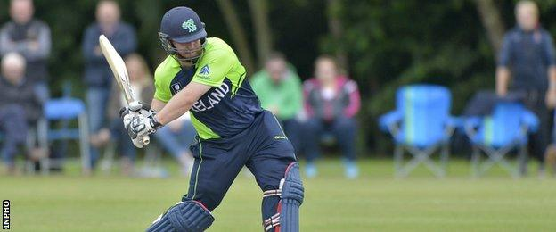 Paul Stirling did not bat in Ireland's final innings against Zimbabwe A as a precautionary measure