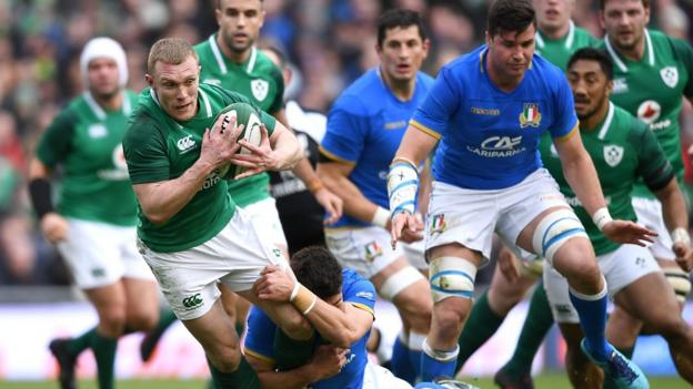Six nations 2018 ireland 56 19 italy highlights bbc sport - Rugby six nations results table ...