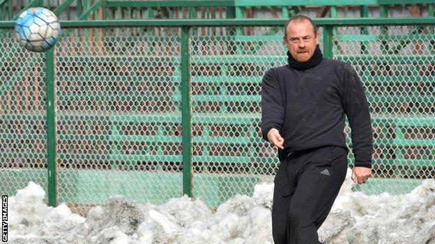 David Robertson has been in charge of Real Kashmir since January 2017