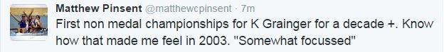 Matthew Pinsent tweet
