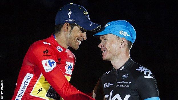 Alberto Contador and Chris Froome