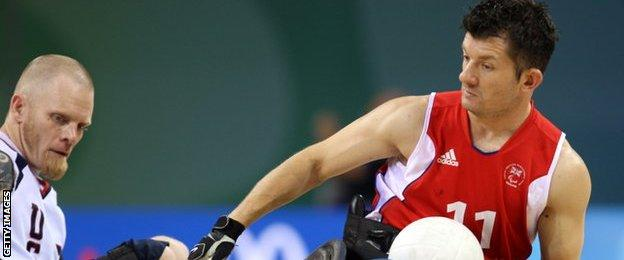 Wheelchair rugby player Alan Ash