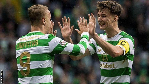 Celtic hammered Kilmarnock on Tuesday to reach the last eight