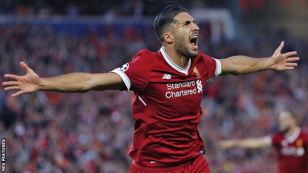 Emre Can's last goal for Liverpool was in a 4-1 win over West Ham on 24 February