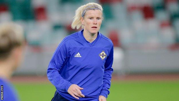 Northern Ireland international Julie Nelson scored as Crusaders hammered Cliftonville