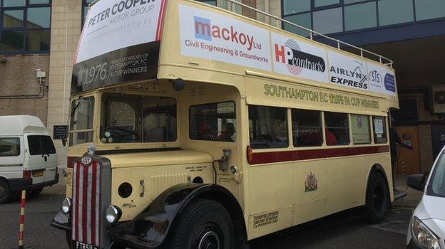 Southampton's original 1976 open-top bus
