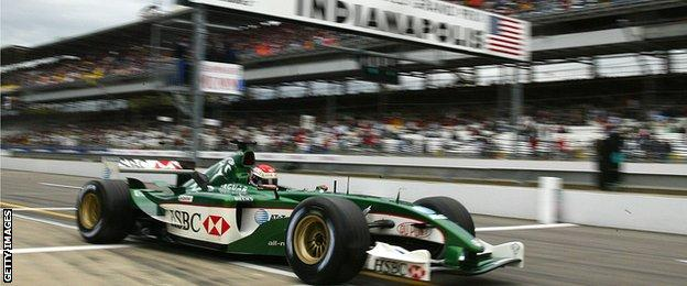 Justin Wilson at the 2003 United States Grand Prix
