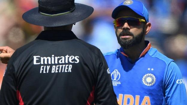 India's Virat Kohli fined for 'excessive appealing' at Cricket World Cup thumbnail
